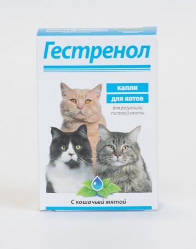 Гестренол, капли для котов с кошачьей мятой, 1.5 мл