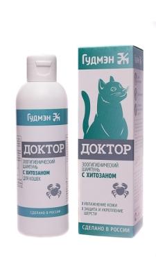 Шампунь ДОКТОР с ХИТОЗАНОМ для кошек, 200мл