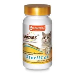 ЮНИТАБС Витамины д/кошек, 120 таб SterilCat с Q10  U302 (кор/12 шт)