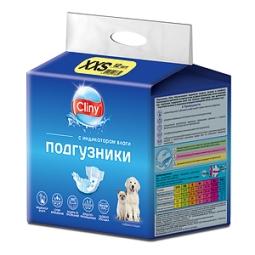 КЛИНИ Подгузники д/собак и кошек XXS 1-2,5 кг №12