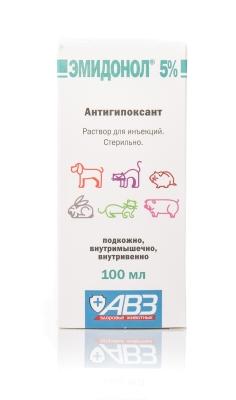 Эмидонол 5%, 100 мл р-р д/инъекций