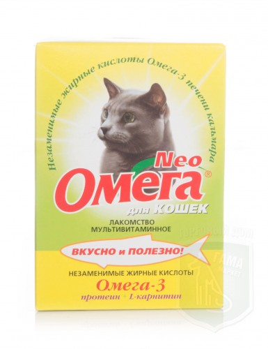 Омега NEOд/кошек с протеином и L-карнитином 90табл.