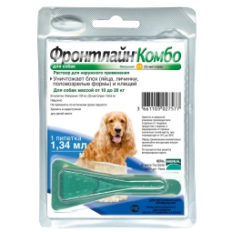 Фронтлайн КОМБО капли д/собак M, 10-20 кг