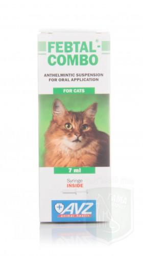 Фебтал-комбо для кошек, 7 мл