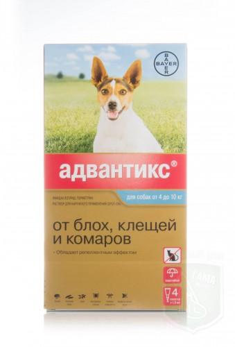 Адвантикс 100 для собак 4-10 кг