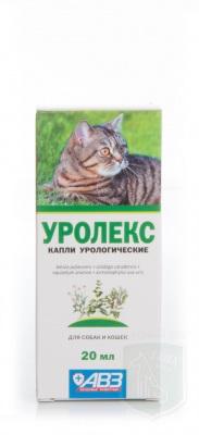 Уролекс капли урологические для кошек и собак, 20 мл