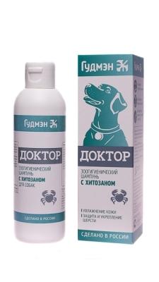 Шампунь ДОКТОР с ХИТОЗАНОМ для собак, 200мл