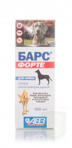 Барс Форте спрей для собак, 100 мл
