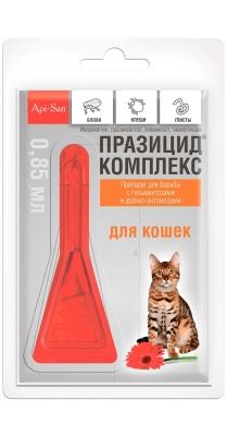 Празицид-комплекс капли на холку д/кошек 1*0,85мл, пипетка /упак 10шт/