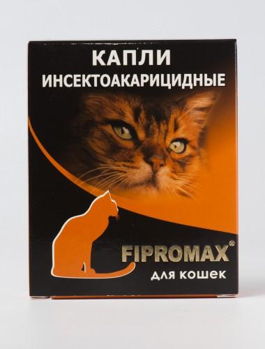 Деликс FIPROMAX капли для кошек, упаковка 4 пипетки