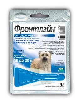 Фронтлайн Спот-ОН для для собак от 10 до 20 кг, M (1 х 1.34 мл)