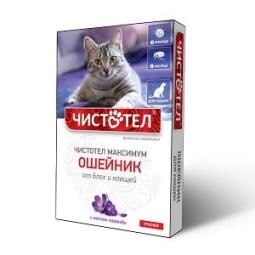 Ошейник Максимум от блох и клещей для кошек, красный