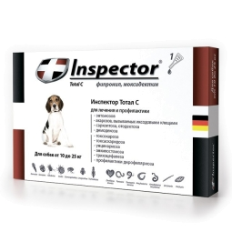 Инспектор капли д/собак 10-25 кг. 1 пипетка