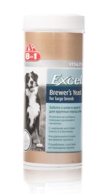 Витамины с пивными дрожжами и чесноком Brewers Excel Yeast для собак 80 табл