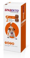 БРАВЕКТО д/собак 4,5-10 кг от блох и клещей, 2 ТАБ*250 мг