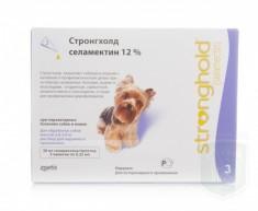 Стронгхолд 12% для собак  2,6-5 кг ФИОЛЕТОВЫЙ, 30 мг (0.25мл 3 пип.)
