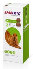 БРАВЕКТО д/собак 10-20 кг от блох и клещей, 2 ТАБ*500 мг