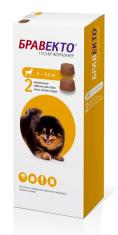 БРАВЕКТО д/собак 2-4.5 кг от блох и клещей, 2 ТАБ*112,5 мг